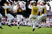 Morris Dancers dancing in Cambridge, England, United Kingdom. RESERVED USE - NOT FOR DOWNLOAD -  FOR USE CONTACT TIM GRAHAM