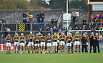 Ballyea stand for the anthem before their senior county final replay at Cusack Park. Photograph by John Kelly.