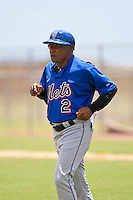 Sandy Alomar, Sr. manager of the Gulf Coast League Mets during the game against the Gulf Coast League Nationals June 27 2010 at the Washington Nationals complex in Viera, Florida.  Photo By Scott Jontes/Four Seam Images