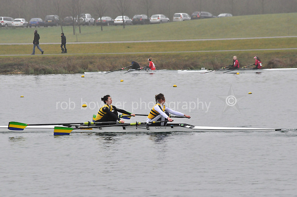 087 Christchurch RC W.J18A.2x..Marlow Regatta Committee Thames Valley Trial Head. 1900m at Dorney Lake/Eton College Rowing Centre, Dorney, Buckinghamshire. Sunday 29 January 2012. Run over three divisions.