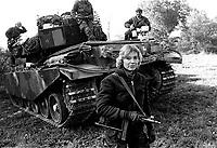 - NATO exercises in Germany, female crew of a tank Centurion of Danish Army....- esercitazioni NATO in Germania, equipaggio femminile di un carro armato Centurion dell'esercito danese