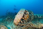 The wreck of a Royal Air Force Blenheim Bomber, which lies at 40 metres depth off the coast of Malta. The aircraft crashed in World War 2