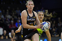 Jenna Sullivan in action during the ANZ Premiership netball match between Central Pulse and WBOP Magic at TSB Bank Arena in Wellington, New Zealand on Sunday, 21 April 2019. Photo: Dave Lintott / lintottphoto.co.nz
