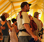 Members of the audience dance to the music of Jesse Lege & The Bayou Brew performing at the Dance Stage at the 2012 Clearwater Festival at Croton Point Park on Saturday, June 16, 2012. Photograph taken by Jim Peppler. Copyright Jim Peppler/2012.