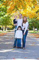 The Hobson family is photographed October 21, 2012 in Langhorne, Pennsylvania. -- (Photo by William Thomas Cain/Cain Images)