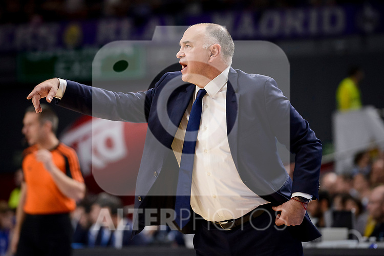 Real Madrid's coach Pablo Laso during Turkish Airlines Euroleague match between Real Madrid and Anadolu Efes at Wizink Center in Madrid, April 07, 2017. Spain.<br /> (ALTERPHOTOS/BorjaB.Hojas)