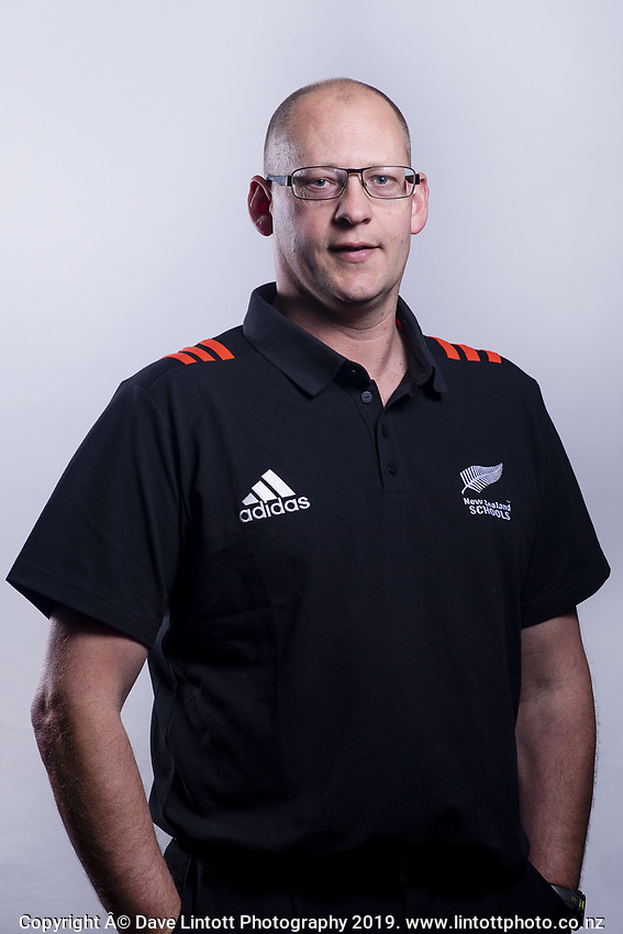 Manager Nick Reid. 2019 New Zealand Schools rugby union headshots at the Sport & Rugby Institute in Palmerston North, New Zealand on Wednesday, 25 September 2019. Photo: Dave Lintott / lintottphoto.co.nz