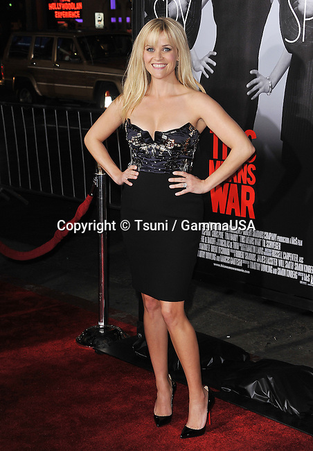 Reese Witherspoon  at  The This Means War Premiere at the Chinese Theatre in Los Angeles.
