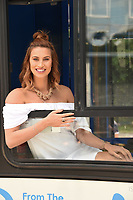 Ferne McCann<br /> at the launch of anti-bullying #BeNiceBus with The Diana Award, Dulwich, London. <br /> <br /> <br /> &copy;Ash Knotek  D3275  07/06/2017