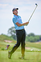 Thomas Pieters (BEL) watches his tee shot on 13 during Friday's round 2 of the 117th U.S. Open, at Erin Hills, Erin, Wisconsin. 6/16/2017.<br /> Picture: Golffile | Ken Murray<br /> <br /> <br /> All photo usage must carry mandatory copyright credit (&copy; Golffile | Ken Murray)
