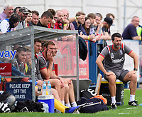 Lincoln City manager Danny Cowley, right, watches on from the technical area<br /> <br /> Photographer Chris Vaughan/CameraSport<br /> <br /> Football Pre-Season Friendly (Community Festival of Lincolnshire) - Lincoln City v Lincoln United - Saturday 6th July 2019 - The Martin & Co Arena - Gainsborough<br /> <br /> World Copyright © 2018 CameraSport. All rights reserved. 43 Linden Ave. Countesthorpe. Leicester. England. LE8 5PG - Tel: +44 (0) 116 277 4147 - admin@camerasport.com - www.camerasport.com