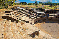 Roman Amphitheatre of Troy . Troy archaeological site, A UNESCO World Heritage Site, Turkey