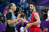 7th September 2017, Fenerbahce Arena, Istanbul, Turkey; FIBA Eurobasket Group D; Belgium versus Serbia; Point Guard Vasilije Micic #22 of Serbia talks with the referee during the match