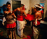 SRI LANKA, Asia, Kandy, traditional dancers getting ready for the performance