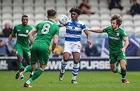 Preston North End's Alan Browne and Ben Pearson competing with Queens Park Rangers' Bright Osayi-Samuel<br /> <br /> Photographer Andrew Kearns/CameraSport<br /> <br /> The EFL Sky Bet Championship - Queens Park Rangers v Preston North End - Loftus Road - London<br /> <br /> World Copyright &copy; 2018 CameraSport. All rights reserved. 43 Linden Ave. Countesthorpe. Leicester. England. LE8 5PG - Tel: +44 (0) 116 277 4147 - admin@camerasport.com - www.camerasport.com