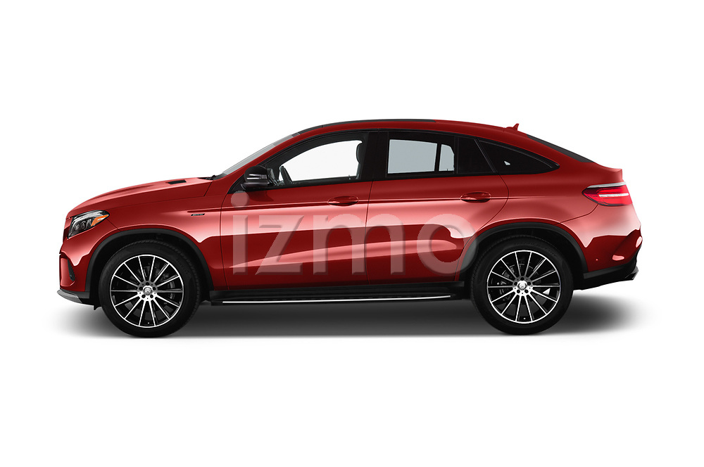 Car Driver side profile view of a 2017 Mercedes Benz GLE-Class-Coupe GLE43-AMG 5 Door SUV Side View