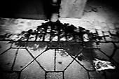 Wroclaw 15.07.2008 Poland<br /> The worst and the most dangerous district in Wroclaw ( Poland ) , called by people &quot;The Bermuda Triangle&quot;. There are walls bearing an inscription &quot;Who will enter here, will not exit alive&quot; Many families there are pathological and live in extreme poverty. Children have no place for any games so they loaf around on this wasted district and disseminate a juvenile delinquency. Many of them become sexually active though they are only 10-12 years old<br /> (Photo by Adam Lach / Napo Images)<br /> <br /> Najbardziej nabezpieczna dzielnica we Wroclawiu zwana przez ludzi Trojkatem Bermudzkim. Sa tam sciany opatrzone napisem &quot; Kto tu wejdzie, nigdy nie wyjdzie stad zywy&quot; Mieszka tam wiele rodzin patologicznych i zyja w wielkiej nedzy. Dzieci wlocza sie po ulicach nie majac miejsc na zabawe i szerza przestepczosc wsrod nieletnich. Wiele z dzieci uprawia seks choc maja zaledwie 10-12 lat<br /> (Fot Adam Lach / Napo Images)
