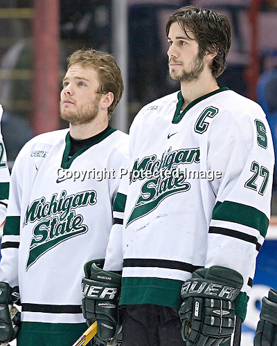 Tyler Howells, Drew Miller - The University of Maine Black Bears defeated the Michigan State University Spartans 5-4 on Sunday, March 26, 2006, in the NCAA East Regional Final at the Pepsi Arena in Albany, New York.