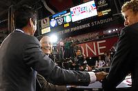 Jorge Campos   during the friendly match between the Mexican Football Sleeccion Vs United States at the University of Phoenix stadium . final score Mexico 2 - USA 2.  2 Abril 2014 in Phoenix Arizona<br /> ********<br /> Jorge Campos , conductora de tv azteca durante el partido amistoso entre  la Selección Mexicana Vs Estados Unidos en Estadio de la Universidad de Phoenix.<br /> marcador final Mexico 2 - USA 2.  2 Abril 2014 in Phoenix Arizona<br /> Copyright.©LuisGutierrez