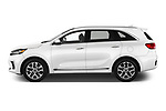 Car driver side profile view of a 2019 KIA Sorento SX Limited 5 Door SUV
