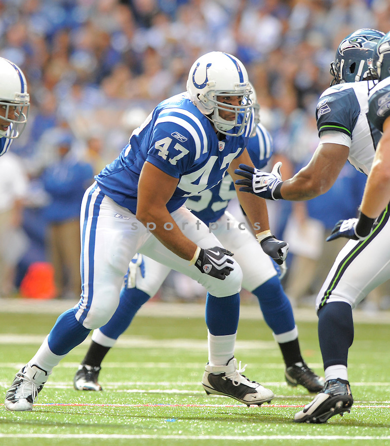 GIJON ROBINSON, of the Indianapolis Colts , in action during the  Colts game against the Seattle Seahawks on October 4, 2009 in Indianapolis, In. The Cotls beat the Seahawks   34-17 ...