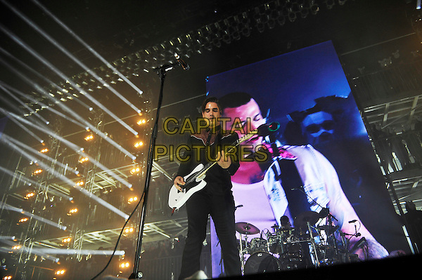 LONDON, ENGLAND - MAY 11: Charlie Simpson of 'Busted' performing at SSE Arena on May 11, 2016 in London, England.<br /> CAP/MAR<br /> &copy; Martin Harris/Capital Pictures