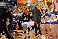 21 January 2012:  FIU guard Jeremy Allen (32) is introduced prior to the game.  The Florida Atlantic University Owls defeated the FIU Golden Panthers, 66-64, at the U.S. Century Bank Arena in Miami, Florida.