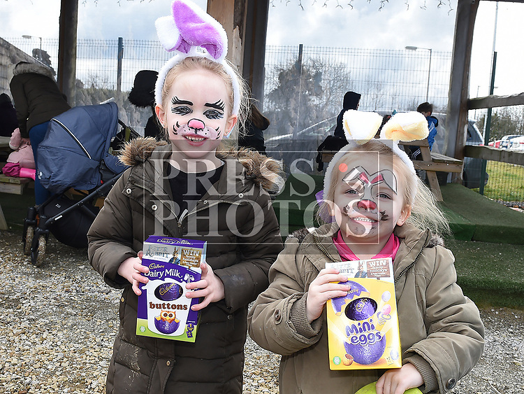 Lily and Darcye Dunphy at the Easter Egg Hunt at the Millitary and War Museum at Collon. Photo:Colin Bell/pressphotos.ie