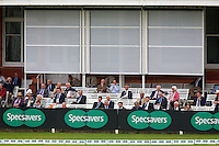 MCC members look on from the pavilion during Middlesex CCC vs Yorkshire CCC, Specsavers County Championship Division 1 Cricket at Lord's Cricket Ground on 20th September 2016