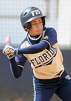 Florida International University infielder Jessy Alfonso (8) plays against the University of Illinois.  FIU won the game 8-0 on February 12, 2012 at Miami, Florida. .