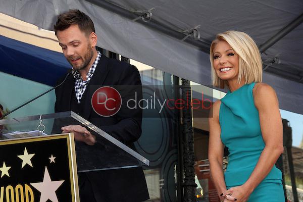 Joel McHale, Kelly Ripa<br /> at the Kelly Ripa Star on the Hollywood Walk of Fame, Hollywood, CA 10-12-15<br /> David Edwards/Dailyceleb.com 818-249-4998
