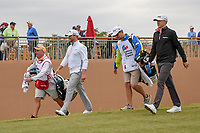 Brice Garnett (USA) and Mackenzie Hughes (CAN) make their way down 11 during Round 2 of the Valero Texas Open, AT&amp;T Oaks Course, TPC San Antonio, San Antonio, Texas, USA. 4/20/2018.<br /> Picture: Golffile | Ken Murray<br /> <br /> <br /> All photo usage must carry mandatory copyright credit (&copy; Golffile | Ken Murray)