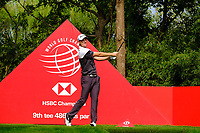 Justin Rose (ENG) on the 9th tee during the 2nd round at the WGC HSBC Champions 2018, Sheshan Golf CLub, Shanghai, China. 26/10/2018.<br /> Picture Fran Caffrey / Golffile.ie<br /> <br /> All photo usage must carry mandatory copyright credit (&copy; Golffile | Fran Caffrey)