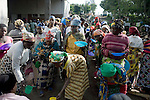 BUKAVU, DEMOCRATIC REPUBLIC OF CONGO - OCTOBER 30: Unidentified women and children queue for a meal on October 30, 2007 at Panzi hospital outside Bukavu, DRC. Many of these women has been raped and abused by rebels and government soldiers. Many of the children are a result of rape. About 10 women and girls show up at the hospital every day and Dr. Denis Mukwege, a gynecologist and his staff does up to 20 reconstructive operations every day. He often has to perform complicated surgery to reproductive and digestive parts of the women. The DRC conflict has seen an unprecedented high rate of rape and sexual abuse of women. The culprits are both different rebel groups and government soldiers and very few are punished. About 27,000 sexual assaults were reported in South Kivu province alone in 2006, according to the United Nations. (Photo by Per-Anders Pettersson)