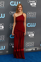 Samara Weaving attends the 23rd Annual Critics' Choice Awards at Barker Hangar in Santa Monica, Los Angeles, USA, on 11 January 2018. Photo: Hubert Boesl - NO WIRE SERVICE - Photo: Hubert Boesl/dpa /MediaPunch ***FOR USA ONLY***