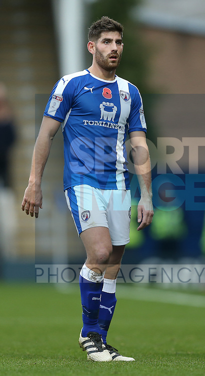 Ched Evans of Chesterfield during the English League One match at the Proact Stadium, Chesterfield. Picture date: November 13th, 2016. Pic Simon Bellis/Sportimage