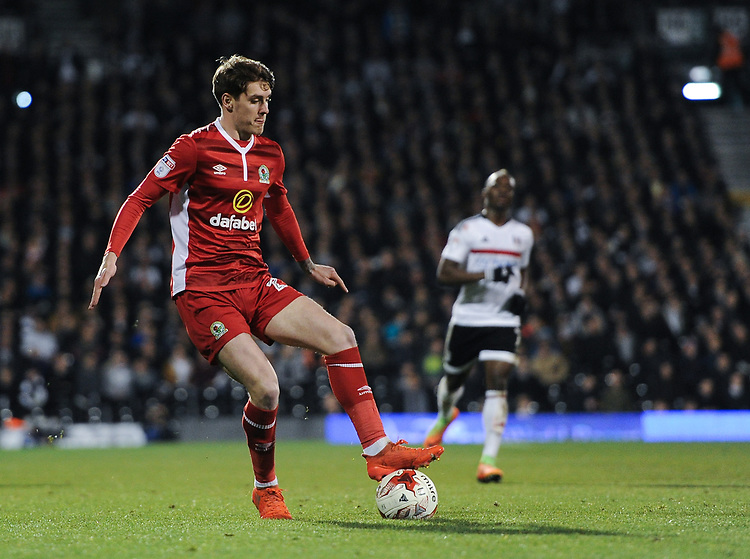 Blackburn Rovers' Connor Mahoney in action during todays match  <br /> <br /> Photographer /Ashley WesternCameraSport<br /> <br /> The EFL Sky Bet Championship - Fulham v Blackburn Rovers - Tuesday 14th March 2017 - Craven Cottage - London<br /> <br /> World Copyright &copy; 2017 CameraSport. All rights reserved. 43 Linden Ave. Countesthorpe. Leicester. England. LE8 5PG - Tel: +44 (0) 116 277 4147 - admin@camerasport.com - www.camerasport.com