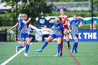 Boston, MA - Saturday July 01, 2017: Rosie White and Havana Solaun during a regular season National Women's Soccer League (NWSL) match between the Boston Breakers and the Washington Spirit at Jordan Field.