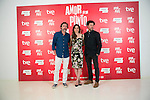 "The actors Gines Garcia Millan (Left) Leonor Watling (center) and Richard Coyle (Right) attend the photocall at the presentation of the movie ""The Food Guide to Love (Amor En Su Punto)"" at Kitchen Club in Madrid, Spain. May 05, 2014. (ALTERPHOTOS/Carlos Dafonte)"