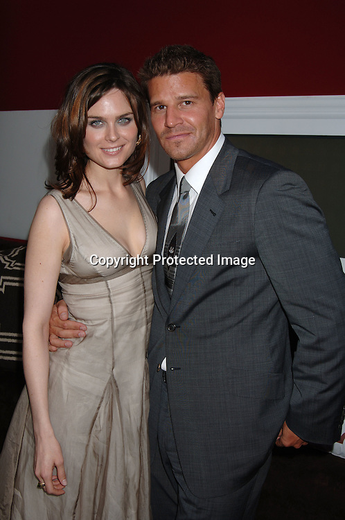 "Emily Deschanel and David Boreanaz of""Bones""..at The Fox Upfront 2006-2007  Fall Announcement ..of their new Schedule on May 18, 2006..at Guastavinos...Robin Platzer, Twin Images"