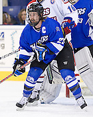 Curtis deBruyn (UAH - 23) - The University of Massachusetts-Lowell River Hawks defeated the University of Alabama-Huntsville Chargers 3-0 on Friday, November 25, 2011, at Tsongas Center in Lowell, Massachusetts.