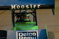 .Steve Kinser pulls his car off the track following practice......ref: Digital Image Only