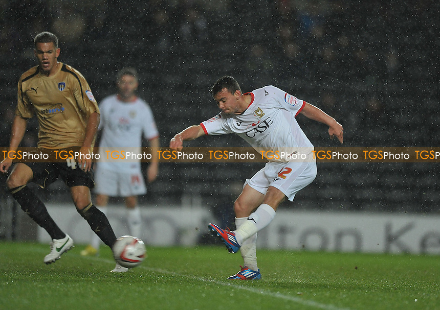 Zeli Ismail of MK Dons shoots for goal - MK Dons vs Colchester United - NPower League One Football at Stadium MK, Milton Keynes - 24/11/2012 - MANDATORY CREDIT: Martin Dalton/TGSPHOTO - Self billing applies where appropriate - 0845 094 6026 - contact@tgsphoto.co.uk - NO UNPAID USE.