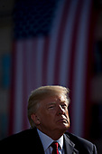 United States President Donald J. Trump listens during a ceremony to commemorate the September 11, 2001 terrorist attacks, at the Pentagon in Washington, D.C., U.S., on Monday, Sept. 11, 2017. Trump is presiding over his first 9/11 commemoration on the 16th anniversary of the terrorist attacks that killed nearly 3,000 people when hijackers flew commercial airplanes into New York's World Trade Center, the Pentagon and a field near Shanksville, Pennsylvania. <br /> Credit: Andrew Harrer / Pool via CNP