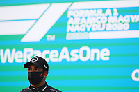 18th July 2020, Hungaroring, Budapest, Hungary; F1 Grand Prix of Hungary, qualifying sessions;  44 Lewis Hamilton GBR, Mercedes-AMG Petronas Formula One Team takes pole award