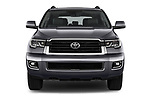 Car photography straight front view of a 2018 Toyota Sequoia TRD Sport 5 Door SUV