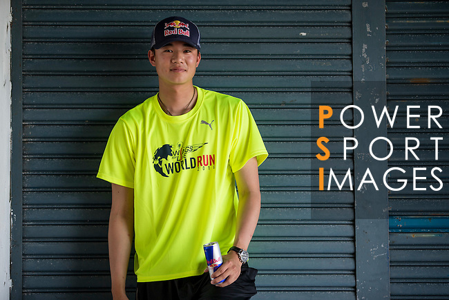 Red Bull Athlete Tiger Huang poses for a photograph during the Wings for Life World Run on 08 May, 2016 in Yilan, Taiwan. Photo by Victor Fraile / Power Sport Images