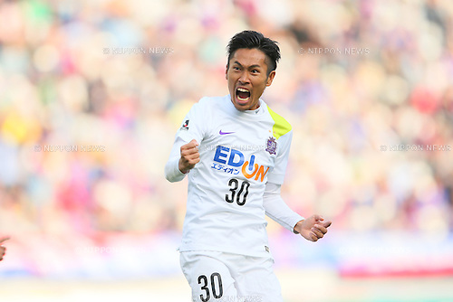 Kosei Shibasaki (Sanfrecce), <br /> APRIL 18, 2015 - Football /Soccer : <br /> 2015 J1 League 1st stage match <br /> between F.C. Tokyo 1-2 Sanfrecce Hiroshima <br /> at Ajinomoto Stadium, Tokyo, Japan. <br /> (Photo by YUTAKA/AFLO SPORT) [1040]