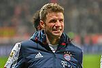 12.01.2018, BayArena, Leverkusen , GER, 1.FBL., Bayer 04 Leverkusen vs. FC Bayern M&uuml;nchen<br /> im Bild / picture shows: <br /> Thomas M&uuml;ller / Mueller (Bayern Muenchen #25),   freut sich &uuml;ber den Sieg <br /> <br /> <br /> Foto &copy; nordphoto / Meuter