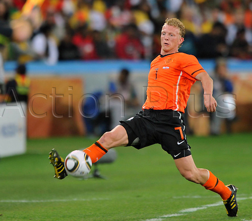 28 06 2010   Durban Dirk Kuyt of The Netherlands Controls The Ball during The 2010 World Cup Round of 16 Soccer Match Against Slovakia AT Moses Mabhida stadium in Durban South Africa ON June 28 2010 Netherlands Won 2 1 and qualified for The Quarter-finals